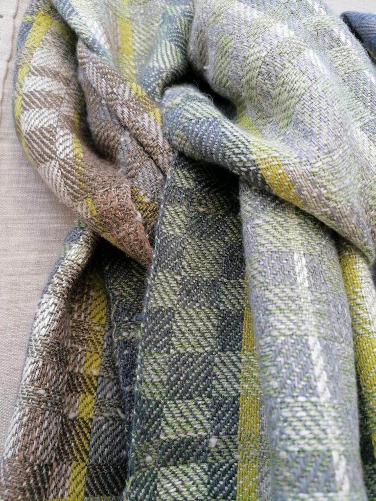 Sarah Truscott - Handwoven linen mix twill scarf