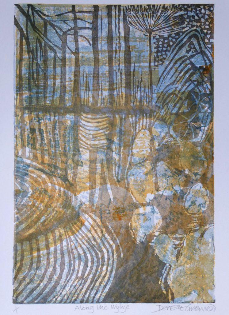Deirdre Greenwood - Along the Wylye - Multiblock Linocut
