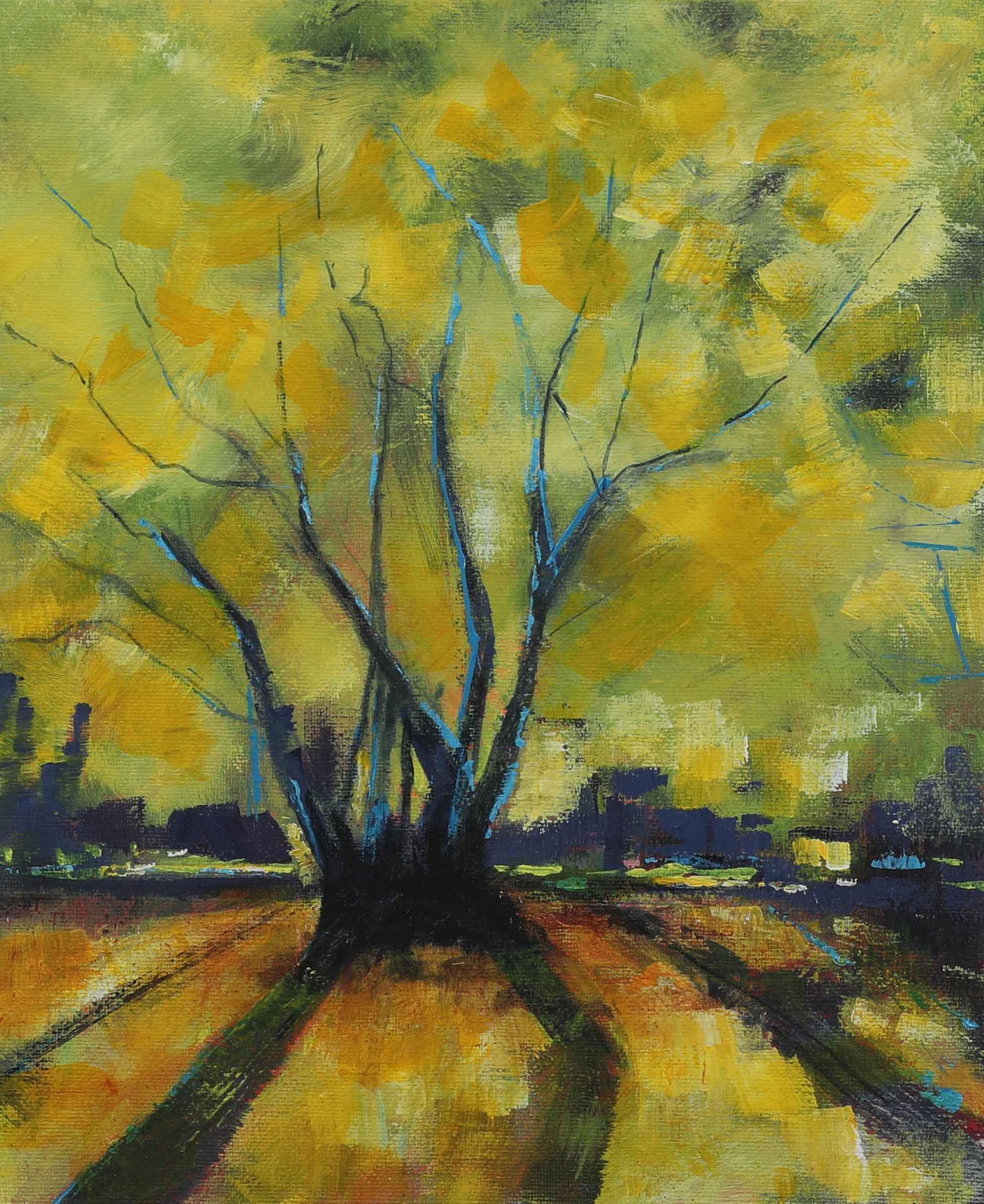 Amanda Bennett - Raging Tree - Acrylic