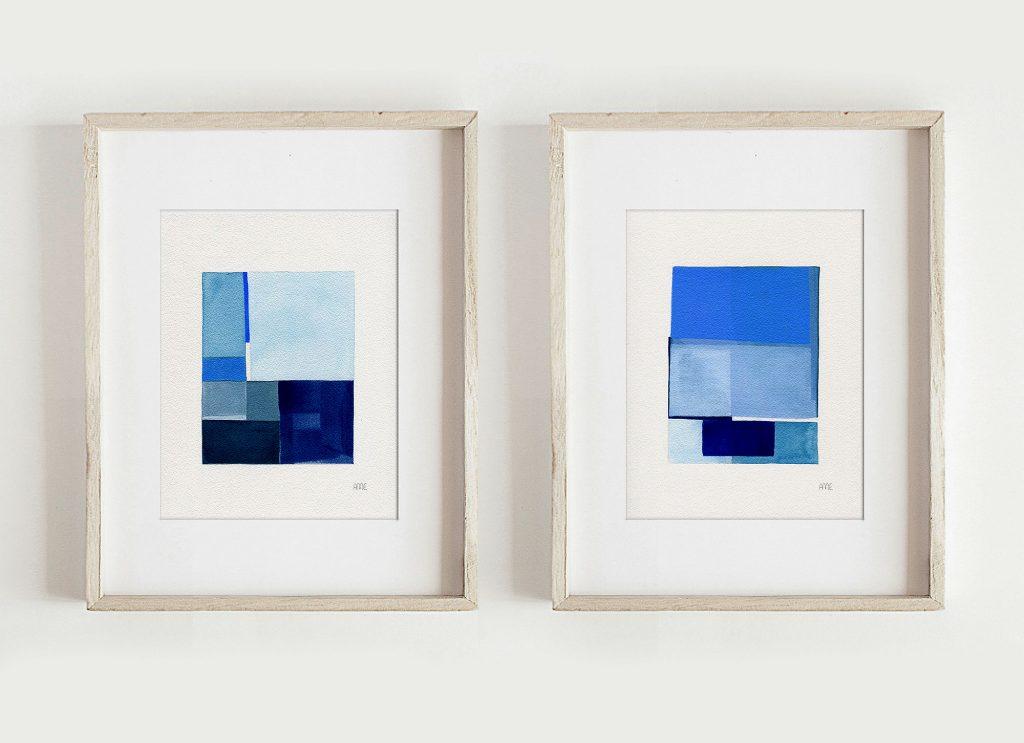 Anna Mabella Edgely - Blue Geos