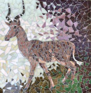 Emma Abel. Hirola.55x43cm.Mosaic