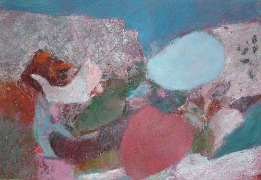 Philip Leevers - Ghasri. Coast - oils on paper