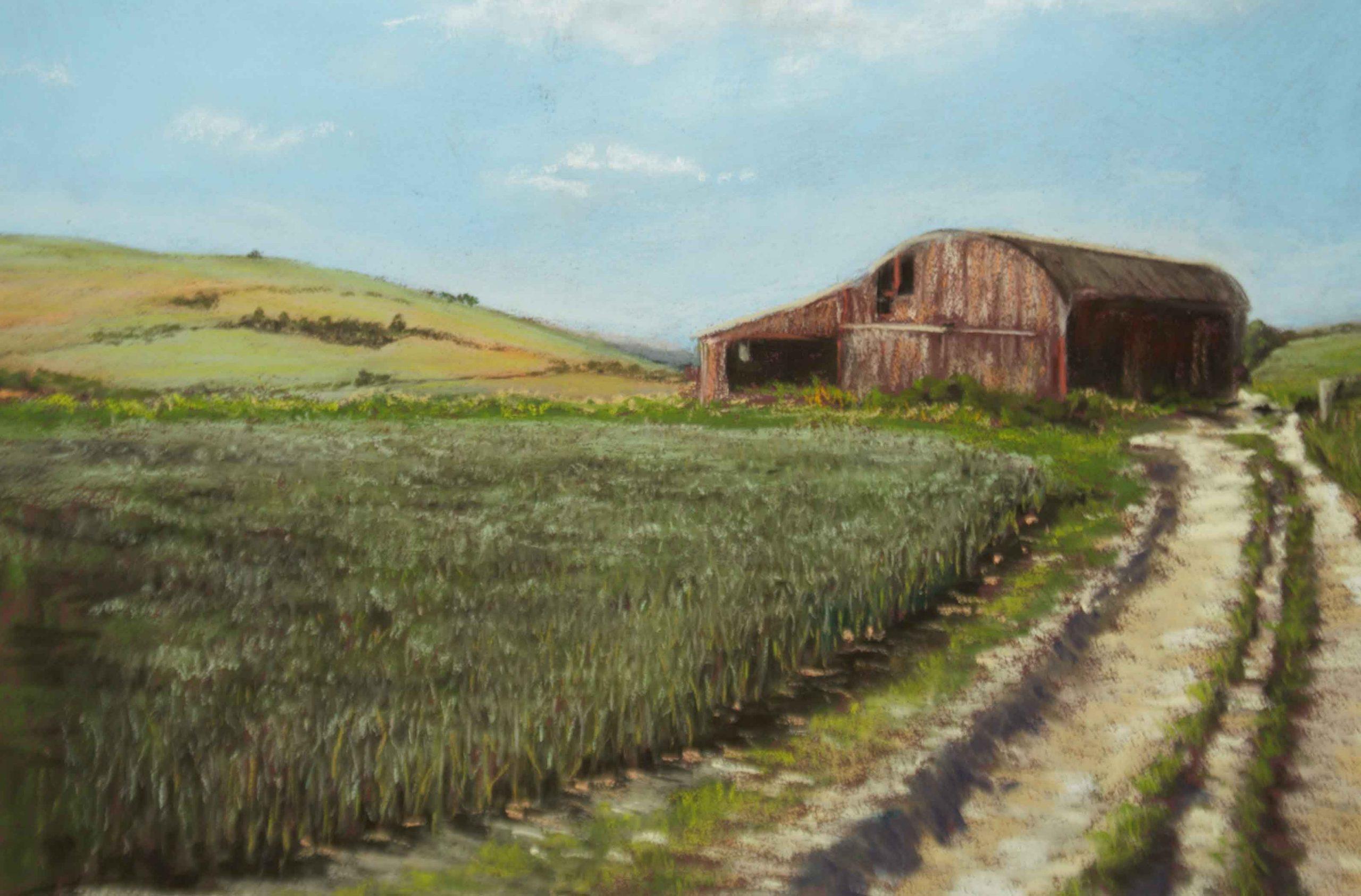 Gillian Flint - Kings Hill Barn - Pastel