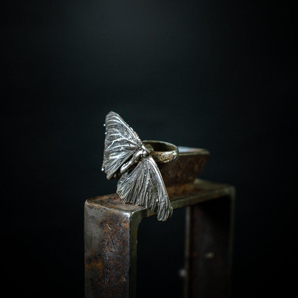 Issi Bulloch - Moth Ring - Silver