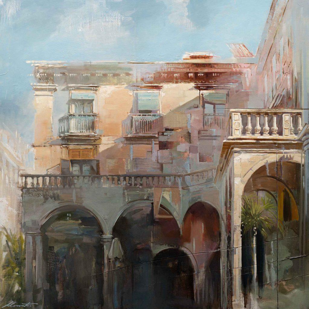 Johnny Morant - Sicilian Arches - Oil on Board