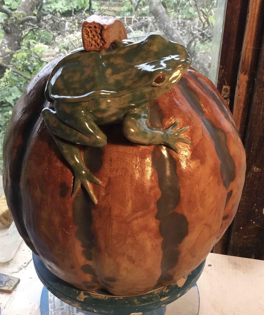 Jacqueline Baker - Pumpkin with Friend - Ceramic