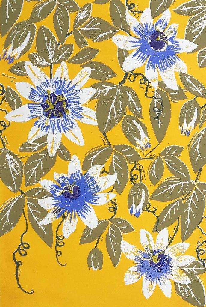 Liza Saunders - Passionflower - Silkscreen Print