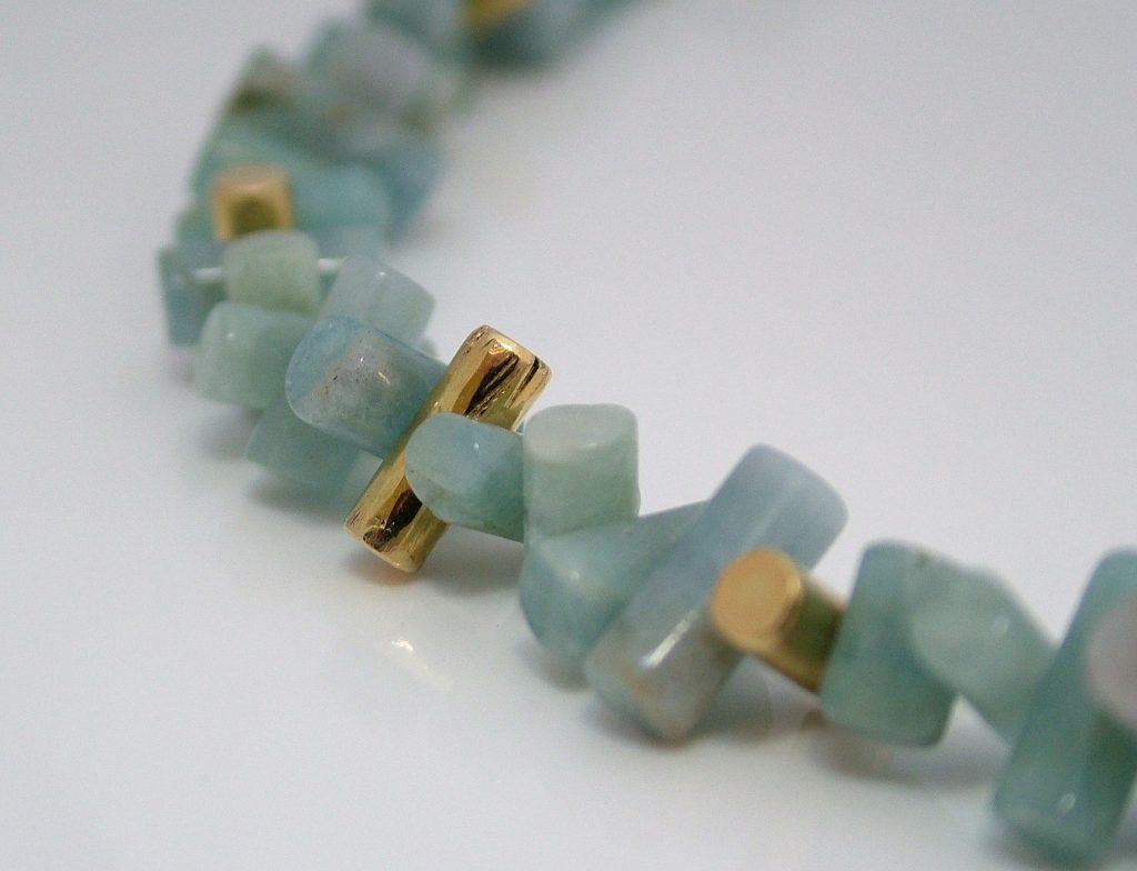 Pepe Argo - Necklace - Gold Aquamarine