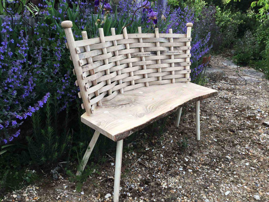 Robert Baker - Oak Woven Bench - Wood