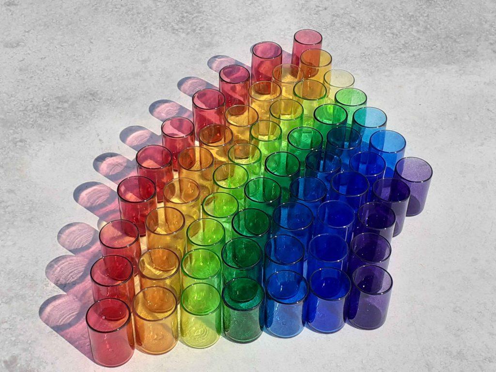 Sonja Klingler - Rainbow Tumblers - Glass